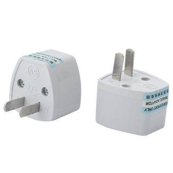 Harga BU 2 Pcs Universal EU/UK/AU to US USA AC Travel Power Adapter Converter Plug