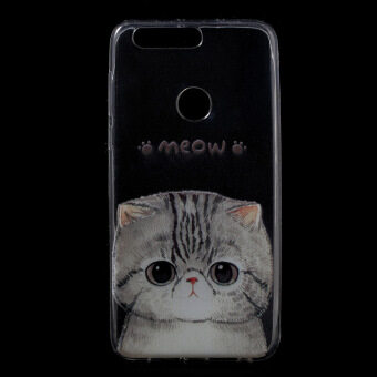 Harga Patterned TPU Ultra-thin Gel Back Cover for Huawei Honor 8 - Adorable Cat