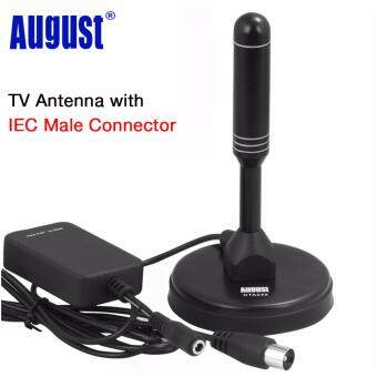 Harga August DTA245 Amplified Digital TV Antenna Portable Indoor/Outdoor Digital Antennas with Signal Booster for USB TV Tuner / ATSC