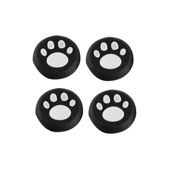 Harga 4Pcs Luxurious Cat Paw Silicone Gamepad Thumb Stick Grip Cap Cover For PS3 PS4 XBOX White
