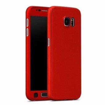 Harga 360 Degree Full Body Protection Cover Case With Tempered Glass for Samsung Galaxy A7 2017 (Red)