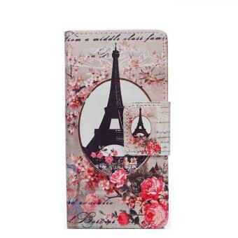 Harga New Fashion Beautiful Flower Floral Leather Wallet Cover for Alcatel One Touch Pop c7 7040 7040D OT7040 (Multicolor)