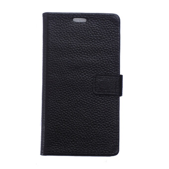 Harga Genuine Flip Leather Lichee Grain Back Cover for Alcatel One Touch Flash 6042D (Black)