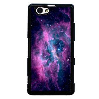 Harga Hipster Nebula Pattern Phone Case for Sony Xperia Z1 Compact M51w (Black)