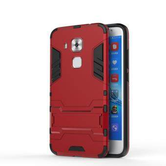 Harga HUA WEI Nova Plus Case,Iron Hard PC Man Armor Shield Case,Hybrid Silicone +TPU Cover Case For HUA WEI Nova Plus(Silver)