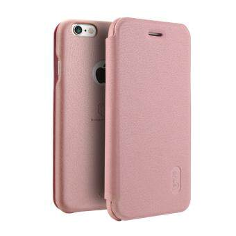 Harga iPhone 6 / 6S Case, Lenuo Lemeng Ultra Thin Crash Proof Slim Fit Flip Up Inside Card Slot PU Leather Cover Soft PC Protective Shell Integrated Back Case for Apple iPhone 6 / 6S 4.7 inch - Rose Gold