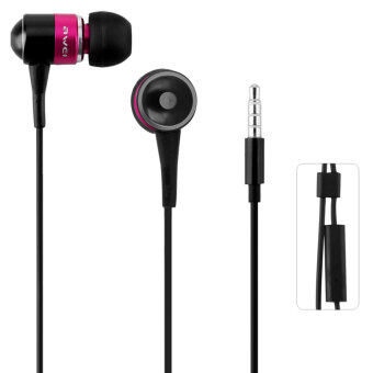 Harga Awei ESQ3i 1.2m Cable Length Earphone With Mic For Mobile Phone Tablet PC (Pink)