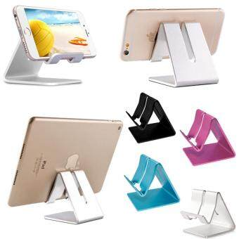 Harga Universal Solid Aluminium Alloy Metal Mobile Phone Desktop Holder Table Stand for iPhone Smartphones iPad Tablet