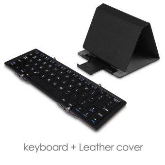 Harga Three-fold multi-system universal Bluetooth keyboard with cover for iPhone/iPad/Mac/Mobilephone/Surface