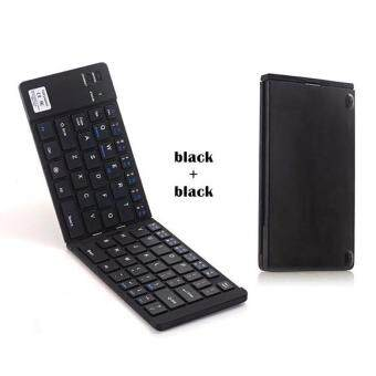 Harga GEYES GK228 Foldable Bluetooth Keyboard for Smartphones /iPad/Tablets/Pcs - Black