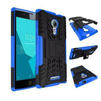 Harga High Impact Rugged Shockproof Case Cover with Kickstand for Alcatel One Touch Flash 2 (Blue)
