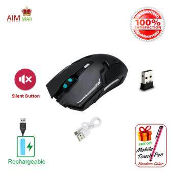 Harga Genuine GEYES i8 Rechargeable 2.4G Wireless 6D optical Gaming mouse