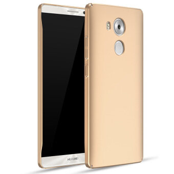 Harga Frosted Matte Hard Plastic Shockproof Protective Phone Case Cover for Huawei Mate 8 Mate8 (Gold)