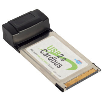 Harga USB 2.0 Cardbus 4 Hub Hi-Speed PCMCIA Card Adapter For Notebook Laptop-