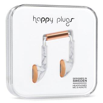 Harga Happy Plugs Earbuds (White Marble)