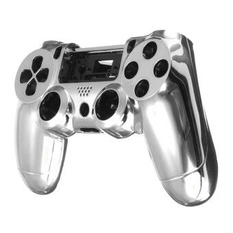 Harga Chrome Skin Housing Shell Case Cover For Sony PlayStation 4 PS4 Controller Silver
