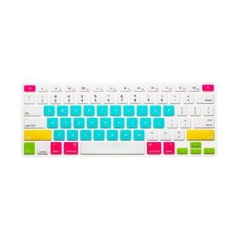 Harga Keyboard protector 12 Inch for Apple Mac-book Air / Mac-book Pro (Korea Candy White and Blue)