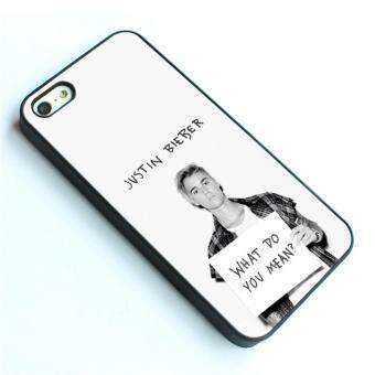 Harga phone case TPU cover for Apple iPhone 5 / 5s Justin Bieber purpose