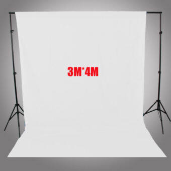 Harga 10FT X 13FT White Screen Muslin Background Cloth Backdrop for Studio Lighting