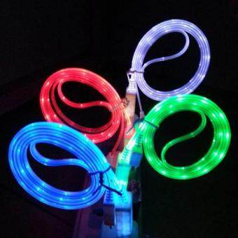 Harga Visible LED Light Micro USB Charger Data Sync Cable for iPhone 7 5/5s 6/6s Cables