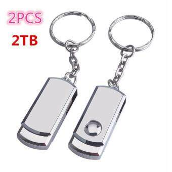 Harga 2PCS usb flash drive 2TB pen drive pendrive usb 2.0 waterproof metal silver u disk memory disk