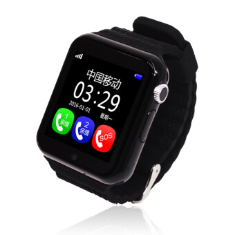 Harga v7k Touch Screen Smart Watch GPS+AGPS+LBS Positioning Monitoring (Black)