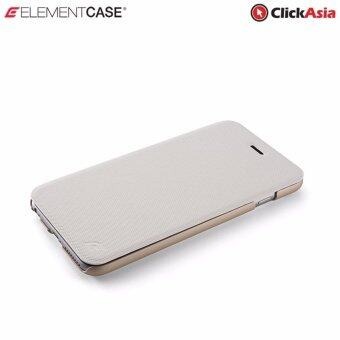 "Harga Element Soft-Tec Wallet Case for iPhone 6 (White ""Tech Grip"" / Gold Suede)"