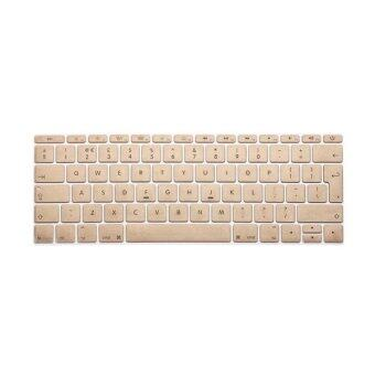 Harga Keyboard protector 13 Inch for Apple Mac-book Air Mac-book Pro European Version (Gold)