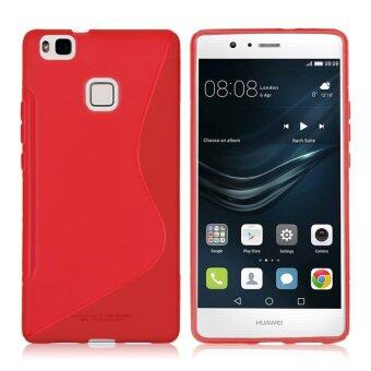Harga Slim S-Line Soft TPU Rubber Gel Case Cover Shell for Huawei P9 Lite( Red) (OVERSEAS)