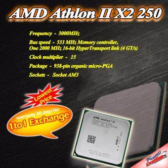 Harga AMD Athlon II X2 250 2core 3.0 ghz AM3 CPU / Processor (Refurbished)