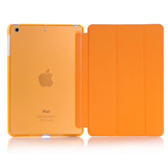 Harga Welink 2 in 1 (New iPad 2017 iPad 9.7 inch / Ipad Air / ipad 5)Case , Tempered Glass + Ultra Slim Smart Cover PU Leather Case for Apple ( Ipad Air / ipad 5 / New iPad 2017 iPad 9.7 inch ) Case (Orange)