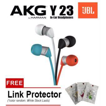 Harga AKG Y23 By JBL Harman Ultra Small In Ear Stereo Headphones With Universal Mic / Remote (White)