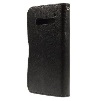 Harga Leather Crazy Horse Flip Stand Cover for Alcatel One Touch Pop C5 OT-5036A OT-5036D OT-5036X (Black)