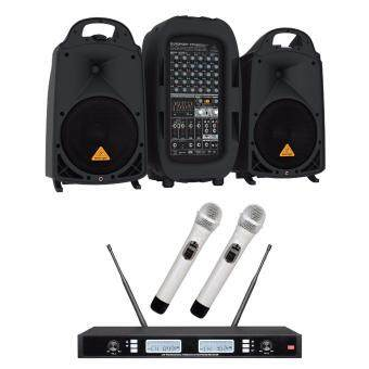 Harga Behringer PPA 2000BT Portable PA System Set Free Dual (2 Mics) Channel Wireless Microphone Set (PPA-2000BT)