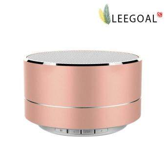 Harga leegoal Mini Portable Bluetooth Wireless Speaker Super Bass For Tablet PC MP3 Smartphone, Rose Gold