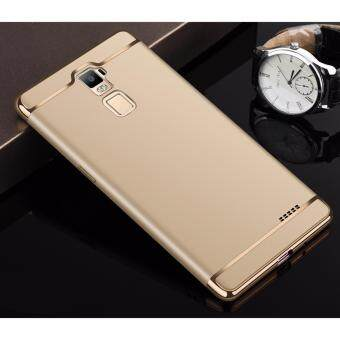 Harga Hybrid 3 In 1 Hard PC Frosted Matte Back Cover Case With Electroplated Frame For OPPO R7 Plus(Gold)