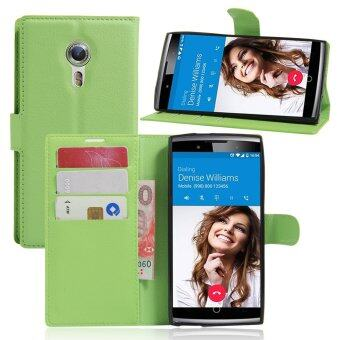 Harga PU Leather Wallet Case Cover For Alcatel One Touch Flash 2 (Green)
