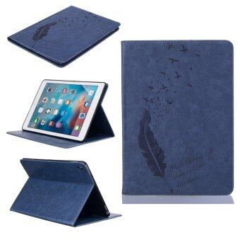 Harga Feather PU Leather Case Flip Wallet Stand Cover for Apple iPad Pro 9.7 inch (Dark Blue)