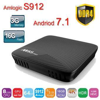 Harga Andriod 7.1 Amlogic S912 mecool M8S Pro android TV Box 3G 16GB DDR4 2.4G/5G WiFi BT4.1 OTA M8S pro media player