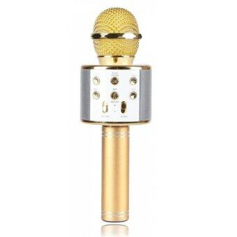 Harga WSTER WS858 (Powerful and Compact Sound) Wireless Microphone with Mic Speaker Condenser Mini Karaoke Player with 3.5mm Jack for IOS/Android (FM Radio/MMC/USB/Bluetooth) Ready Stock!!