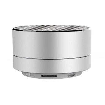 Harga leegoal Mini Portable Bluetooth Wireless Speaker Super Bass For Tablet PC MP3 Smartphone, Silver