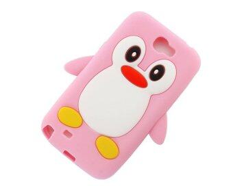 Harga niceEshop 3D Penguin Silicone Soft Skin Gel Case for Samsung Galaxy Note II GT-N7100 (Pink)