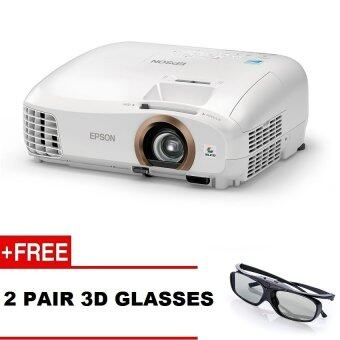 Harga Epson EH-TW5350 HOME THEATRE PROJECTOR Free: 2 Pairs Epson 3D Glasses