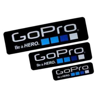 Harga MADPRO Gopro Be a Hero design Sticker set 3 size - Black Colour