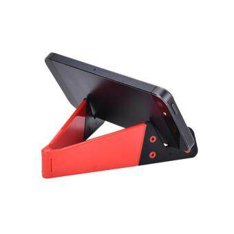 Harga Foldable Mobile Cell Phone Stand Holder For Smartphone Tablet Pc Universal Red