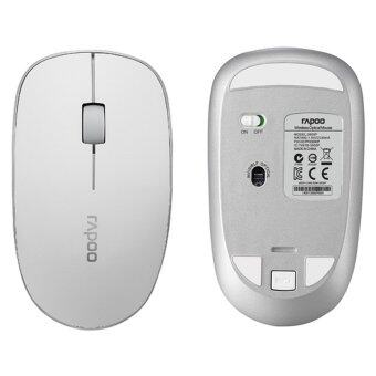 Harga Rapoo 3500P 5.0GHz Wireless Optical Mouse/Mice+USB Nano Receiver (White)