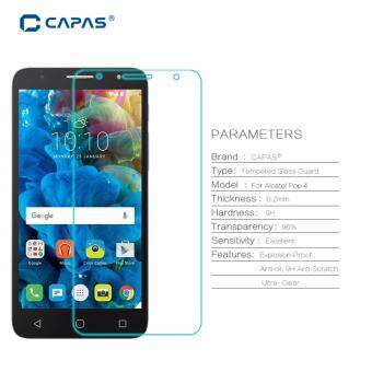 Harga CAPAS 9H Explosion proof Protective Film Tempered Glass for Alcatel One Touch Pop 4 5.0 ''