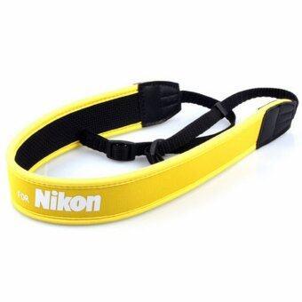 Harga NIKON Neoprene Neck Strap Neckstrap for Camera -Yellow