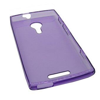 Harga Clear Back Case for Alcatel One Touch Flash 2 (Purple)