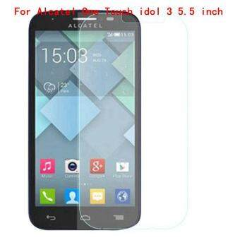 Harga 9H Tempered Steel Glass Ultra-thin HD Scratch-proof Film Screen Protective For Alcatel One Touch idol 3 5.5 inch